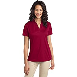 Port Authority Women's Silk Touch Performance Polo XXL Red