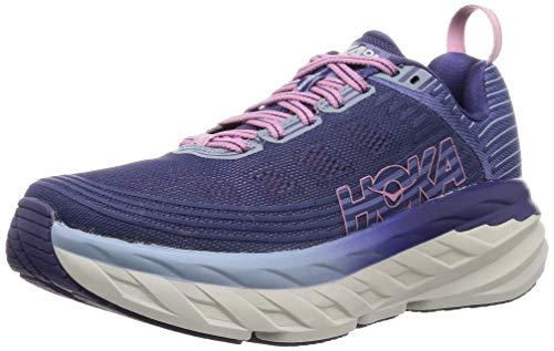 HOKA ONE ONE Womens Bondi 6 Marlin/Blue Ribbon Running Shoe - 7