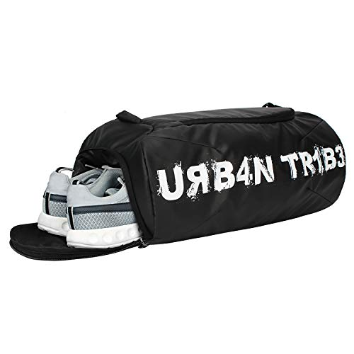 Urban Tribe Plank 23 Liters Sports Gym Bag with Separate Shoe Compartment (Black)