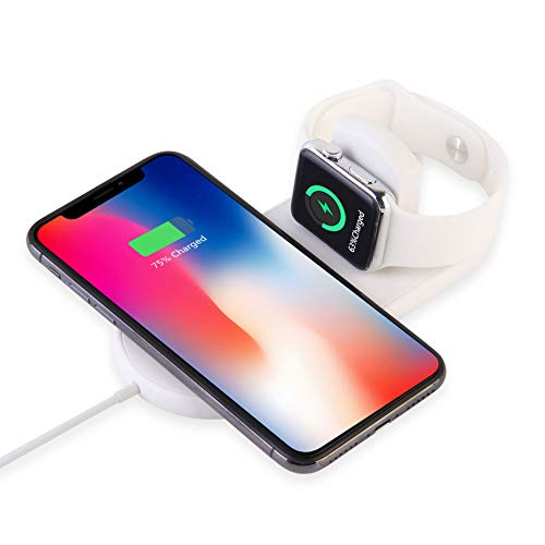 Wireless Charger for Apple Watch, LONOSUN Magnetic Wireless Charger 2 in 1 Charging Pad Stand Compatible for with for iPhone Xs/XS MAX/XR/X/ 8/ Plus/iWatch Series 4/3/2/1 38mm 42mm