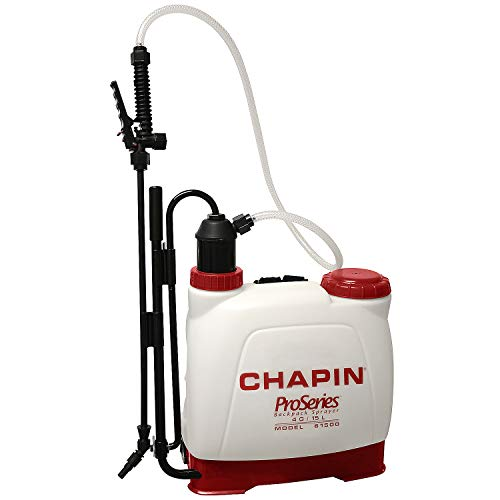 Chapin International 61500 ProSeries Backpack Sprayer, 4 gal, Translucent White