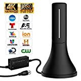 HDTV Antenna - 2019 Update Version Portable HDTV Digital Antenna, 60-120Mile Long Range with Signal Amplifier for 4K HD VHF Uhf Local TV Channels with 13ft Coaxial Cable