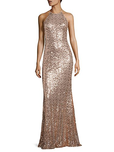 71kp%2BfyzvTL Badgley Mischka Size Guide Exude glamour in this sparkling Badgley Mischka® gown. An allover sequin accent lends to a luxurious shine.