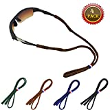 FSACLE Adjustable Glasses Straps Eyewear Retainer, Universal Fit Rope Eyewear Retainer, Sport Unisex Sunglass Retainer Holder Strap, Set of 4 (Colour)