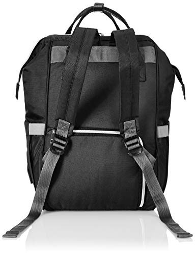 41b42pmBs7L - Amazon Brand - Solimo Baby Diaper Bag, Black