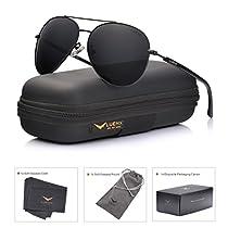 LUENX Aviator Sunglasses Mens Womens Polarized Mirror - UV 400 Protection 60mm