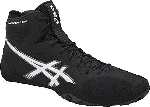 ASICS Men's Dan Gable Evo Wrestling Shoe, Black/White/Carbon, 13 Medium US
