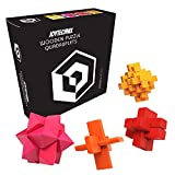 3D Puzzle Games for Adults – Wooden Brain Teaser Box Set [Test Your Mind with This Hard Puzzle Toy] Wood Burr IQ Puzzle Cube – Great for Coffee Table or Desk [Difficult Brainteaser Can You Master it?]