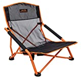 ALPS Mountaineering Rendezvous Elite Folding Camp Chair, Black/Apricot, One Size