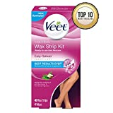 Veet Leg & Body Hair Removal Kit- Sensitive Formula, Ready-to-use Cold Wax Strips, Shea Butter & Acai Fragrance, 40 Count