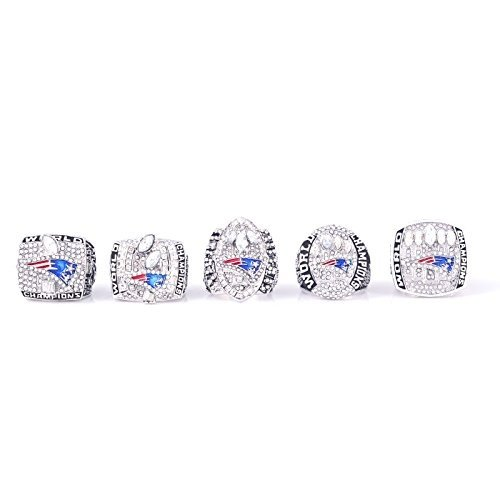 New England Patriots Super Bowl 2001 2003 2004 2014 2017 Ring Set TOM BRADY (9)