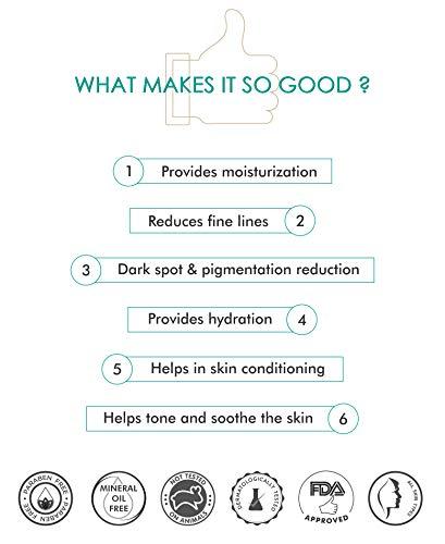 41bCUbtqnHL - mCaffeine Naked Detox Green Tea Night Gel | Moisturization | Vitamin C, Hyaluronic Acid | All Skin | Paraben & Mineral Oil Free | 50 ml