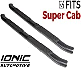 Ionic 5' Railway Black Running Board (fits) 2015-2019 Ford F150 SuperCab
