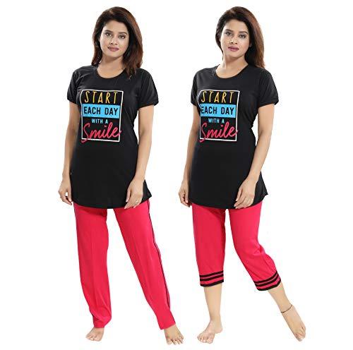 "TUCUTE Women/Girls Cotton Hosiery 3 pcs Top, Pajama & Capri Nightwear/Nighty/Nightsuit/Loungewear/Nightsuit (Top,Pajama & Capri) Size: Large=38"" XL-40 & XXL-42 1  TUCUTE Women/Girls Cotton Hosiery 3 pcs Top, Pajama & Capri Nightwear/Nighty/Nightsuit/Loungewear/Nightsuit (Top,Pajama & Capri) Size: Large=38″ XL-40 & XXL-42 41bDRRJrsyL"