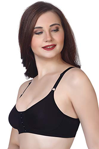 V Star Andrea Women Knitted Molded Cup Front Closure Bra