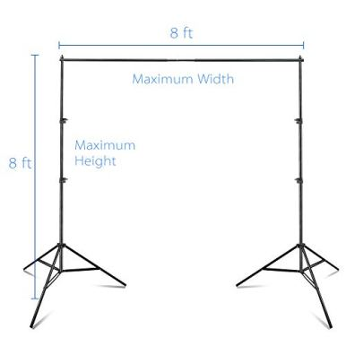 Emart-Photo-Video-Studio-8-x-8-ft-Backdrop-Stand-Adjustable-Photography-Muslin-Background-Support-System-Kit-with-Carry-Bag