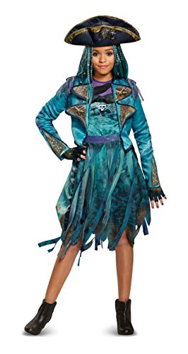 Disney Uma Deluxe Descendants 2 Costume, Teal, Medium (7-8)