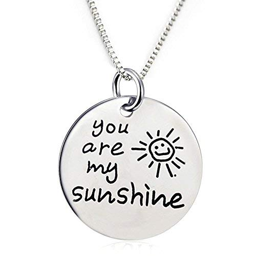 You are My Sunshine Pendant Necklace w/ Heart Charm - LOW PRICE!