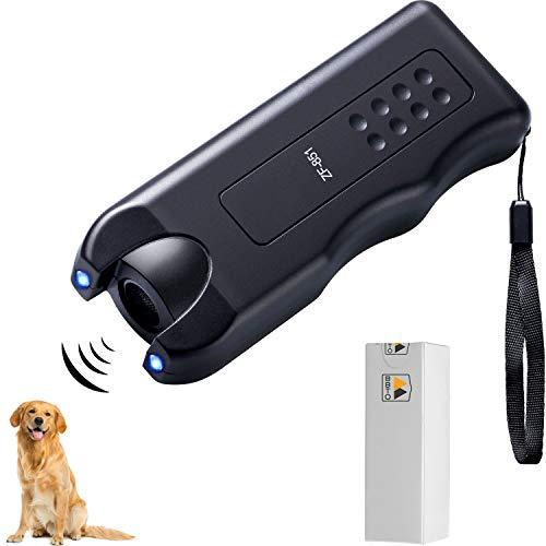 BBTO LED Ultrasonic Dog Repeller Handheld Dog Trainer Device 3 in 1 Anti-Barking Stop Bark Dog Deterrent Training Tools, Black 1