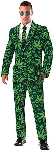 Forum Novelties Men's Joint Venture Suit Cannabis Costume, Green, Standard