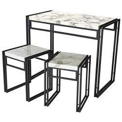 Atlantic Dining Table Set – 3 Piece Set in Marble PN82008039