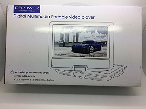 DBPOWER 10.5' Portable DVD Player with Rechargeable Battery, Swivel Screen, SD Card Slot and USB Port - Black