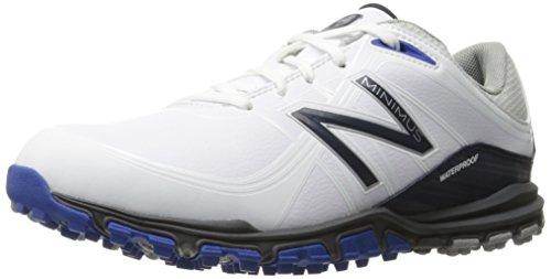 New Balance Men's Minimus Golf Shoe, White/Blue, 10.5 D US