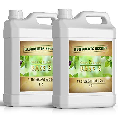 World's Best Base Nutrient System: Humboldts Secret Base A & B Bundle - Liquid Nutrient/Fertilizer for The Vegetative & Flowering Stages of Plants (2 Quarts)