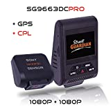 Street Guardian SG9663DCPRO Dual Channel Dash Camera with 128GB MicroSD Card
