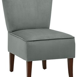 Amazon Brand – Rivet Ashworth Armless Velvet Accent Chair, 21.6″W, Smoky Teal