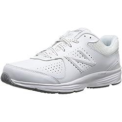 New Balance Women's WW411v2 Walking Shoe, White, 10 2A US