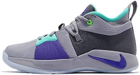 Nike Kids PG 2 (GS) Pure Platinum/Neo Turq Basketball Shoe 1