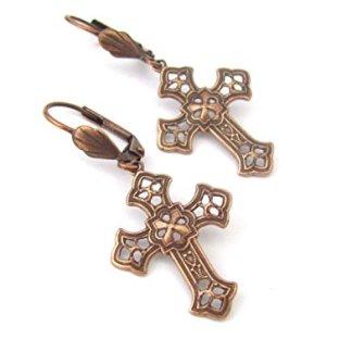 Womens-Cross Earrings