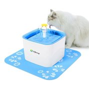 isYoung-Pet-Water-Fountain-25L-Super-Quiet-Automatic-Electric-Water-Dispenser-Healthy-and-Hygienic-Cat-Drinking-Fountain-with-2-Replacement-Filters-for-Dogs-Cat-and-Small-Animals-Blue-25L