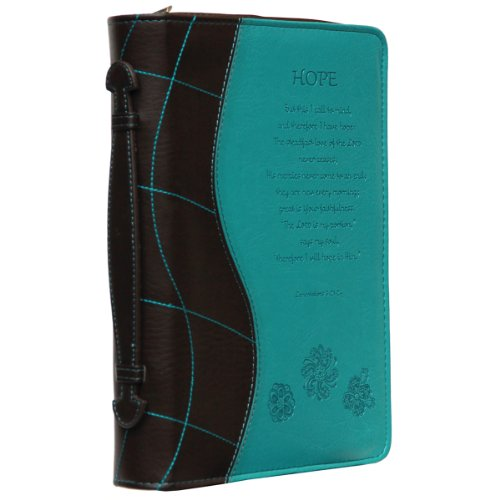 Turquoise 'Hope' Bible / Book Cover - Lamentations 3:21-24 (Medium)