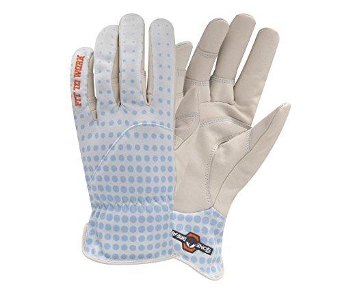 StoneBreaker Gloves Gardener Women's Gardening Glove, Small, Light Blue
