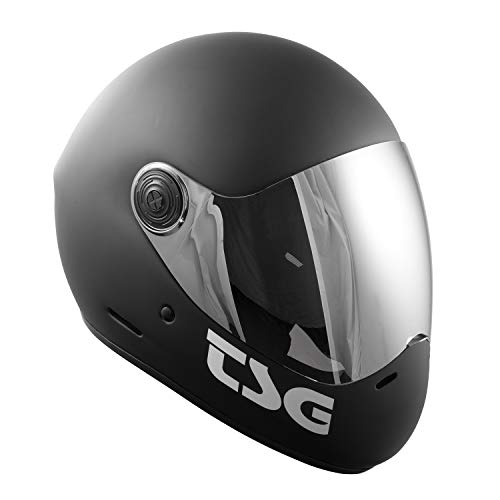 TSG - Pass Solid Color (+ Bonus Visor) - Helmet for Skateboard (Matt Black, S)
