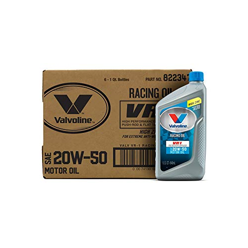 Valvoline 20W-50 VR1 Racing Motor Oil - 1qt (Count of 6) (822347-6PK)