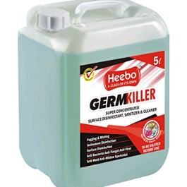 Heebo Super Concentrated Germ killer Surface Disinfectant, Sanitizer & Cleaner 5 LTR Pack of 1 | Kills 99.9% Germs…