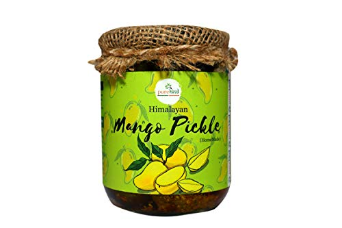 41bmS3h5tBL - Purehind Himalayan Pickle - Mango Pickle, Mix Pickle, Lemon Pickle (300 g Each) | Achaar Made in Traditional Way Mango, Mixed,Jackfruit,khata metha Pickle (Amla Pickle)