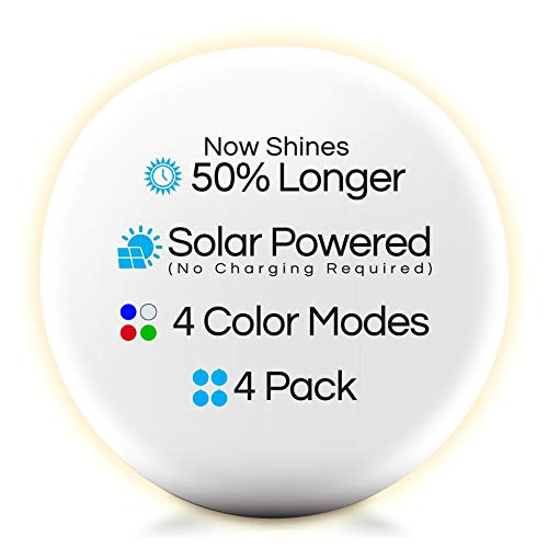 """4-PK Floating Pool Lights-12"""" Globes 4 Color Settings-Solar LED Balls-Inflatable-Waterproof-Floatable and Hangable - Night Mood Lights – Sphere Decorations-Pools-Backyard-Lawn-Pathways-Parties-Events"""