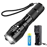 MIKAFEN Led Tactical Flashlight,High Lumen Flashlight with Rechargeable 18650 Lithium Ion Battery and USB Charger,Best for Camping,Auto Emergencies, and Home Repair