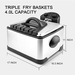 Secura-1700-Watt-Stainless-Steel-Triple-Basket-Electric-Deep-Fryer