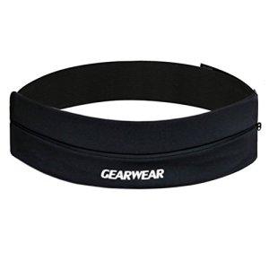 GEARWEAR Waistband Running Belt for iPhone 8 X 7 Plus Phone Holder Women Men Travel Money for Samsung Galaxy for Wallking Fitness Jogging Workout Runner Athlete Sports