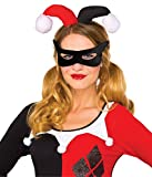Rubie's Women's Dc Comics Harley Quinn Eye Mask and Headpiece, Black, One Size