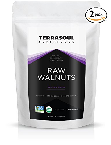 Terrasoul Superfoods Organic Raw Walnuts, 2 Pounds