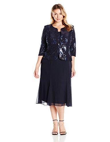 41bzneCSD0L Jacket dress Sequin bodice detail T-length skirt