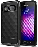 Caseology Parallax for Galaxy J3 Case (2016) - Award Winning Design - Black