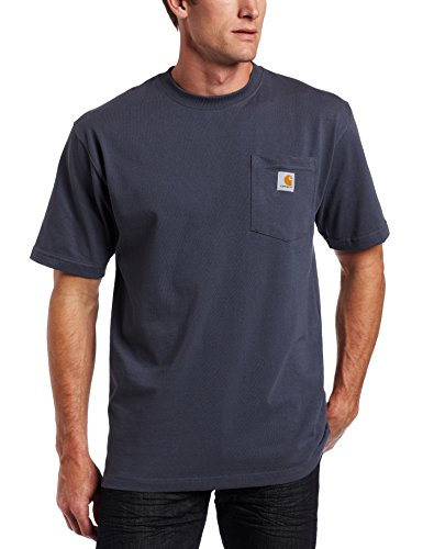 Carhartt Men's K87 Workwear Pocket Short Sleeve T-Shirt (Regular and Big & Tall Sizes), Bluestone, X-Large