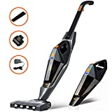 Stick Vacuum Cleaner, Hikeren 12000 PA Cordless Vacuum Cleaner, 2 in 1 Lightweight Rechargeable Bagless Stick and Handheld Vacuum with Wall Mount for Carpet Hardwood Floor Pet Hair